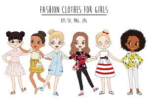Fashion clothes for girls.