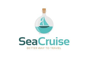 Sea Cruise - Travel Agency Logo