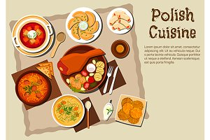 Polish national cuisine dishes