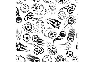 Seamless pattern of soccer balls
