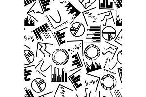 Business charts seamless pattern