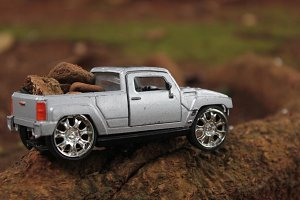 Kids' Toy Cars: SUV Silver