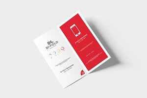 DL Bi-fold Brochure Mock-Up