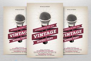 Vintage Music Fest Flyer