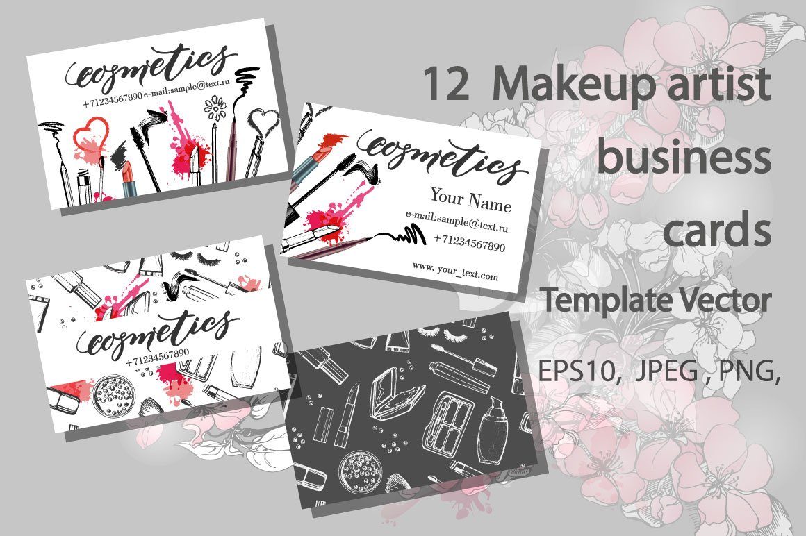 Makeup Artist Business Cards Templates Free 28 Images Set