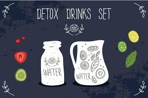 Healthy life, detox drink