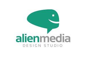 Alien Media Logo Template