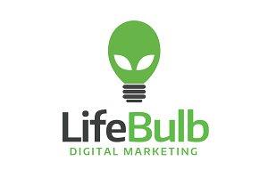 Lightbulb Style Alien Logo