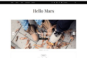 Blogger Template - Hello Mars