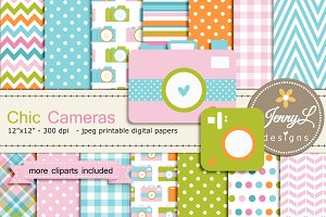 Chic Camera Digital Party & Clipart