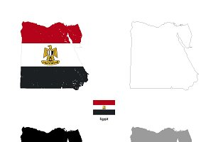 Egypt country silhouettes