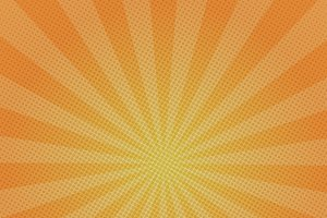 Orange rays retro background