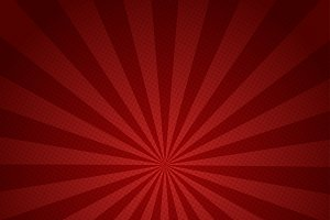 Red rays retro background