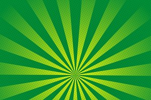 Green rays retro background