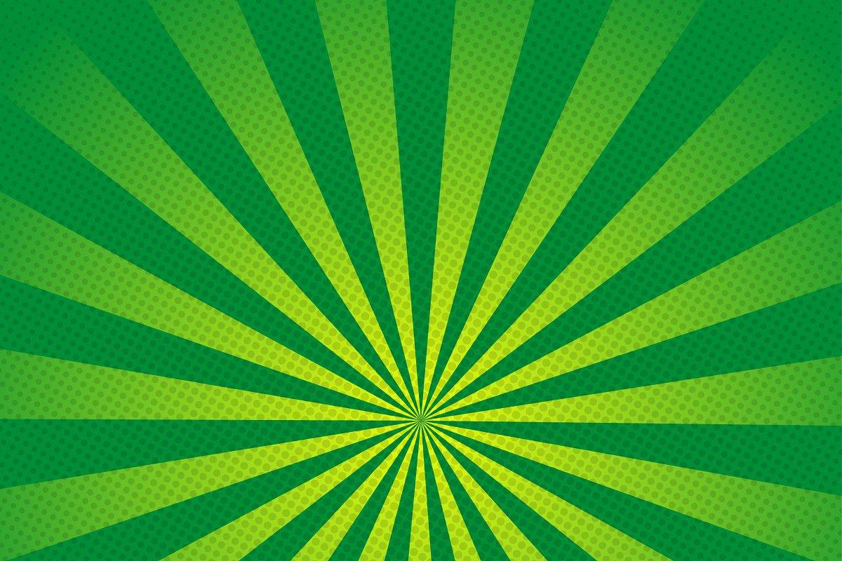 Green rays retro background