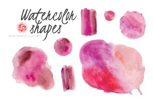 Watercolor Splodges and Shapes