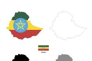 Ethiopia country silhouettes