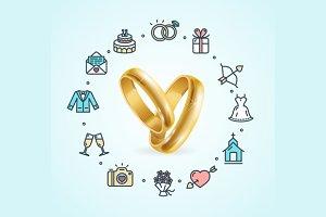 Wedding Concept. Vector