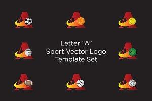 Letter A Sport Vector Logo Set