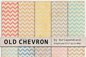 Digital paper old chevron color