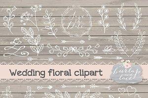 Vector floral clip arts