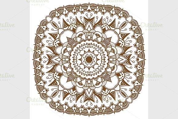 Mandala Ethnic Decorative Elements