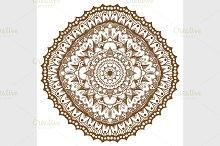 Mandala. Ethnic decorative elements.