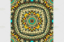 round seamless pattern