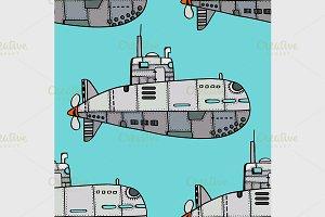 Doodle Sketch Submarine