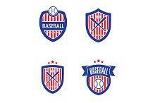 Baseball Vector Logo Set