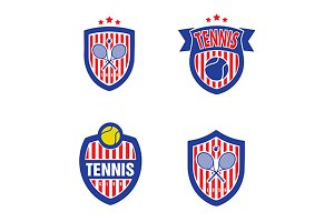 Tennis Vector Logo Set
