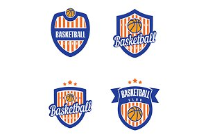 Basketball Vector Logo Set