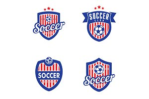 Soccer/Football Vector Logo Set