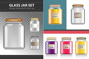 Transparent Glass Jar set