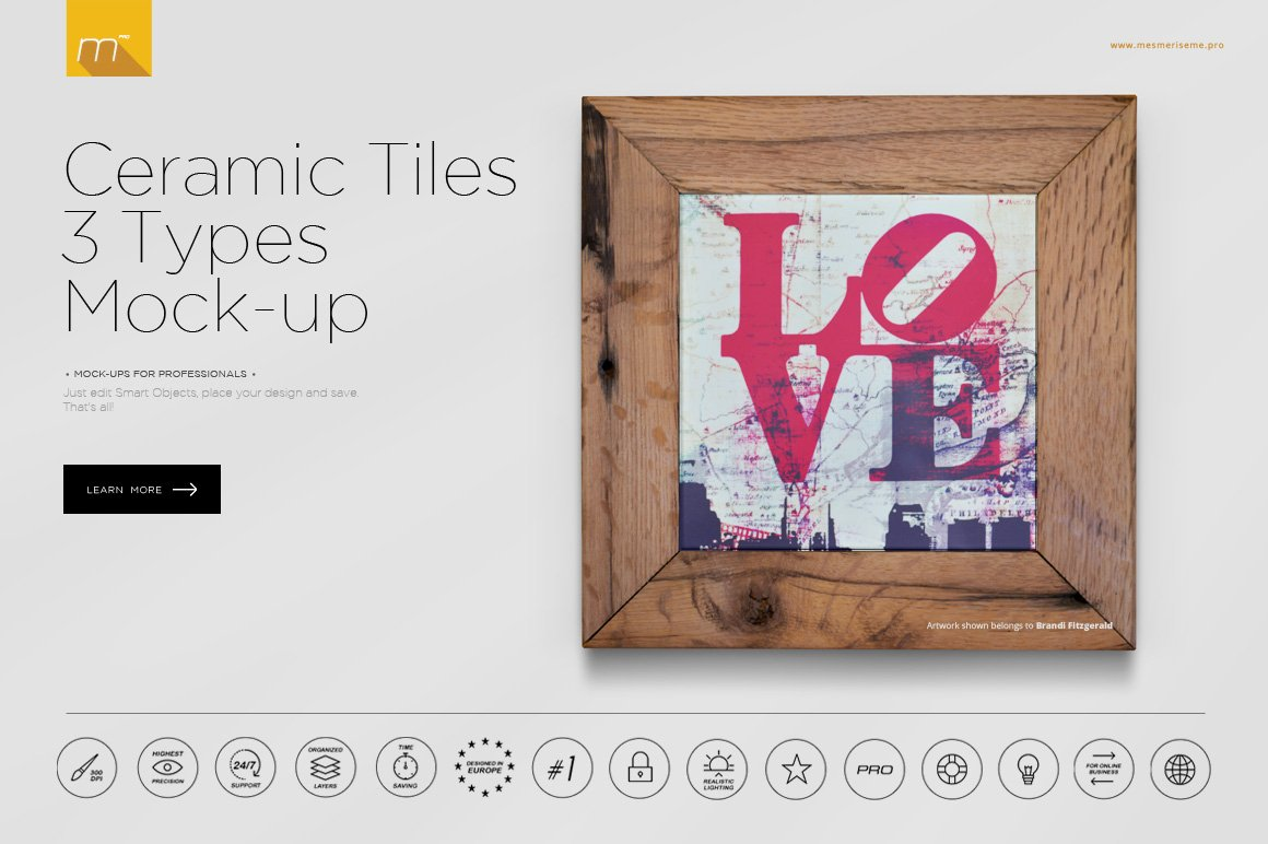 Ceramic tile mock up product mockups creative market dailygadgetfo Image collections