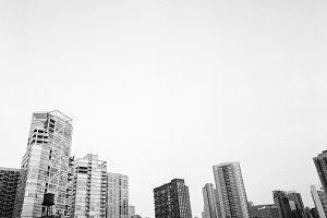 B&W Chicago Skyline II [Analog]