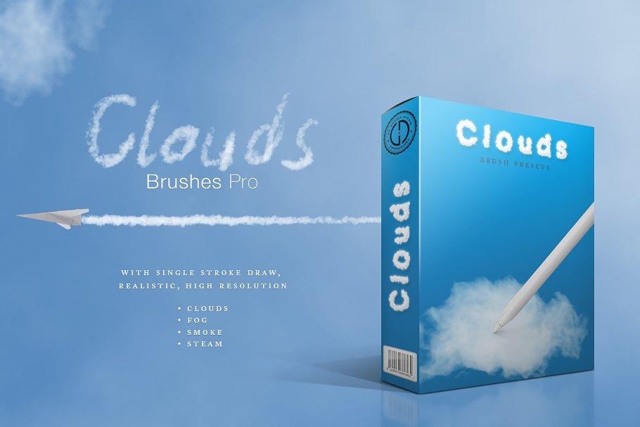 Clouds/Smoke Brushes Pro ~ Photoshop Add-Ons ~ Creative Market