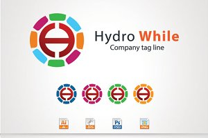 Hydro While,H Letter Logo