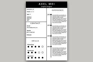 AXEL Resume/CV