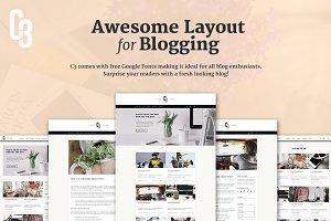 C3 - Minimalistic Blog Concept