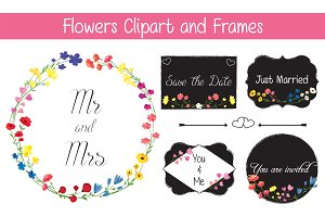 Flowers Clipart and Frames