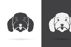 Vector image of an dog poodle face