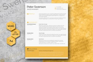Clean & Pretty - Word Resume