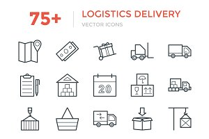 75+ Logistics Delivery Vector Icons