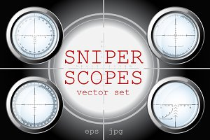 Sniper Scopes Vector Set #2