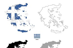 Greece country silhouettes