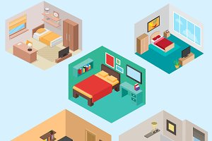 Isometric bedroom set