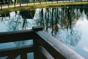 A Sunday walk, pond reflection