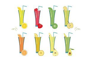Smoothie Collection Vector
