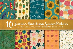 10 seamless summer patterns